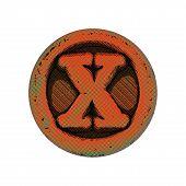 Grunge Font - Letter X