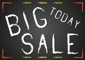 Blackboard With White Chalk Text Big Sale Today