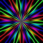 Iillustration In Neon Colors On Dark Background