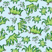 Vector seamless pattern with grass