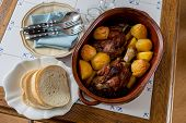 Roasted Pork Meat In Crock