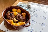 Pork Knuckle Roasted In Crock