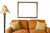Blank Frame And Sofa