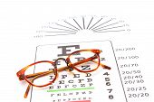 Glasses On A Eyechart