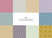 Set Of Geometric Seamless Patterns