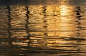 Sunset In The Water Background