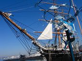 San Diego, California, Us - March 11, 2007: The World's Oldest Active Sailing Ship Star Of India And