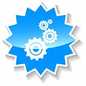 Mechanism blue icon