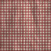 Vintage checkered tablecloth
