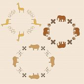 Circle ornament with animals