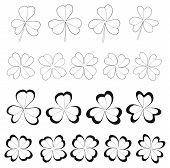 Happy Holiday - Clovers With 3 And 4 Leaves