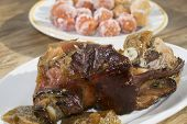 image of piglet  - a dish very cooked in Sardinia the baked piglet - JPG