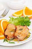 Delicious Pork Chop With Orange Sauce