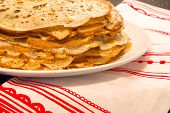 The stack of pancakes russian food