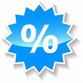 Percentage blue icon