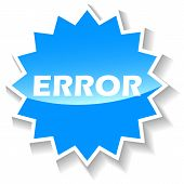 Error blue icon