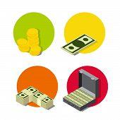 set Isometric money