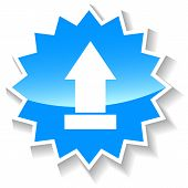 Upload blue icon