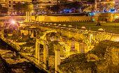 pic of greek-architecture  - Roman Forum Ancient Greek Agora in Thessaloniki Greece - JPG