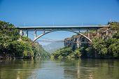 Bridge At Cañon Del Sumidero. Wild River At Chiapas. Tour And Adventure, Traveling Mexico.