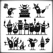 Partying Characters