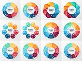 Vector infographics set. Collection of templates for cycle diagram, graph, presentation and round ch