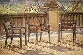 Chairs in public park