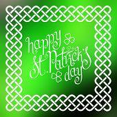 Happy St. Patrick's Day In Celtic Frame