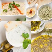 Arab Middle Eastern Food Collage