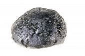 Tektyt, Beautiful Stone Or Meteorite Mineral Isolated On A White Background