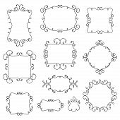 Ornamental decorative frames with swirls