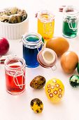 Easter Eggs And Colors Liquid