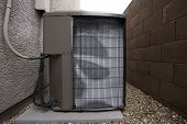 Air Conditioner Outdoor Unit In Winter