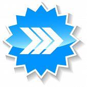 Next arrow blue icon