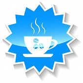Coffee cup blue icon