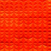 Red Mountain Ranges Abstract Low Polygon Background
