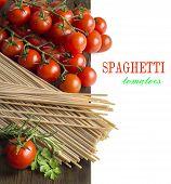 Spaghetti, Herbs And Tomatoes