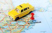 Stockholm ,sweden Map Taxi