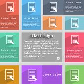 Text File Sign Icon. File Document Symbol. Set Of Colored Buttons. Vector