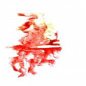 Blot divorce illustration red, green artist of handwork is isola