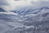 stock photo of sochi  - Rosa Khutor Alpine Ski Resort in Sochi - JPG