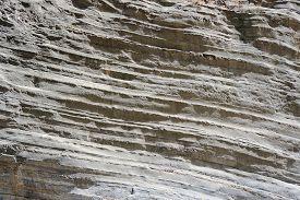 image of samaria  - Sedimentary rock in the gorge of Samaria on the island of Crete - JPG