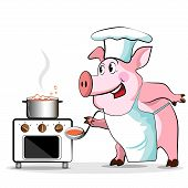 picture of baby pig  - Pig cook  - JPG