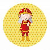 picture of fireman  - Fireman Theme Elements - JPG