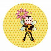 foto of bee cartoon  - Bee Cartoon Theme Elements - JPG