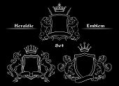 picture of lion  - Heraldic logo signs set - JPG