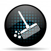 stock photo of broom  - broom icon clean sign