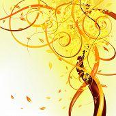 Queda de folhas amarelas