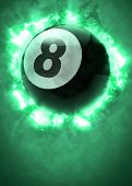 picture of snooker  - Abstract billiard pool snooker invitation poster or flyer background with empty space - JPG