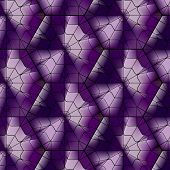picture of tetrahedron  - Seamless gemstone vector pattern with cubes and pyramids - JPG